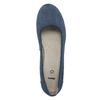 Kožené lodičky šírky H bata, modrá, 623-9602 - 19