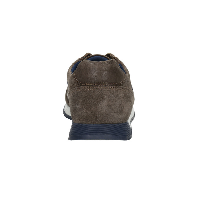 Pánske kožené tenisky bata, hnedá, 843-4624 - 17