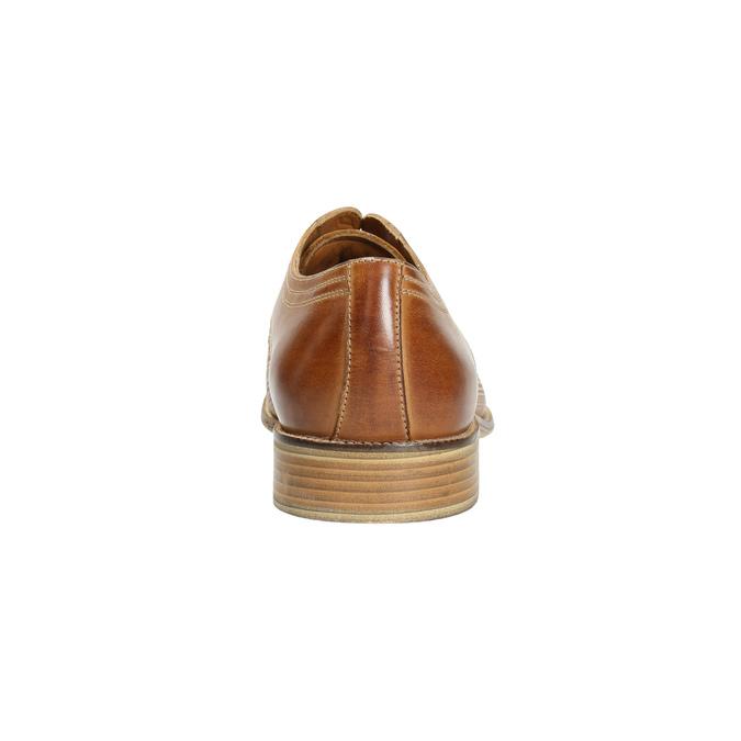 Kožené poltopánky v Derby strihu bata, hnedá, 826-3802 - 17