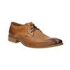 Kožené poltopánky v Derby strihu bata, hnedá, 826-3802 - 13