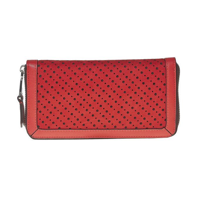 Červená dámska peňaženka bata, červená, 941-5147 - 26