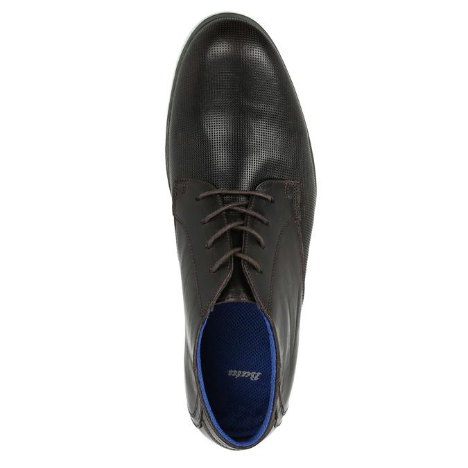 Kožená členková obuv s ležérnou podošvou bata, čierna, 826-4818 - 19