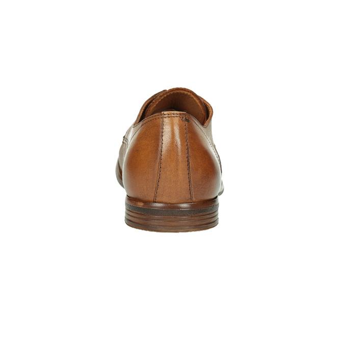 Ležérne kožené Derby poltopánky bata, hnedá, 826-3907 - 17