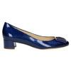 Kožené lodičky s mašľou hogl, modrá, 628-9400 - 15