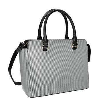Pruhovaná kabelka bata, čierna, 961-6747 - 13
