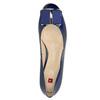 Kožené lodičky s mašľou hogl, modrá, 628-9400 - 19