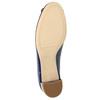 Kožené lodičky s mašľou hogl, modrá, 628-9400 - 26