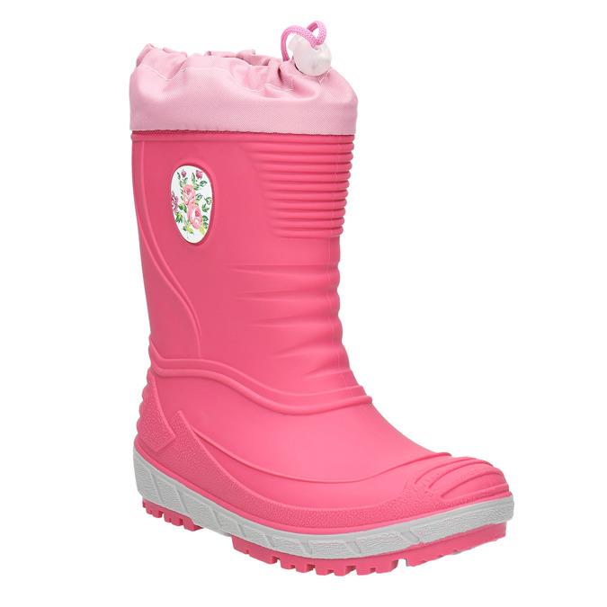 Dievčenské gumáky s výraznou podrážkou mini-b, ružová, 392-5111 - 13