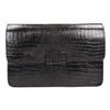 Kožená kabelka s krokodýlím vzorom vagabond, hnedá, 966-3030 - 19