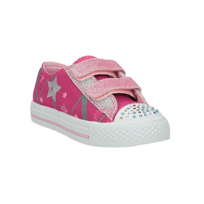 Ružové dievčenské tenisky mini-b, ružová, 229-5183 - 13
