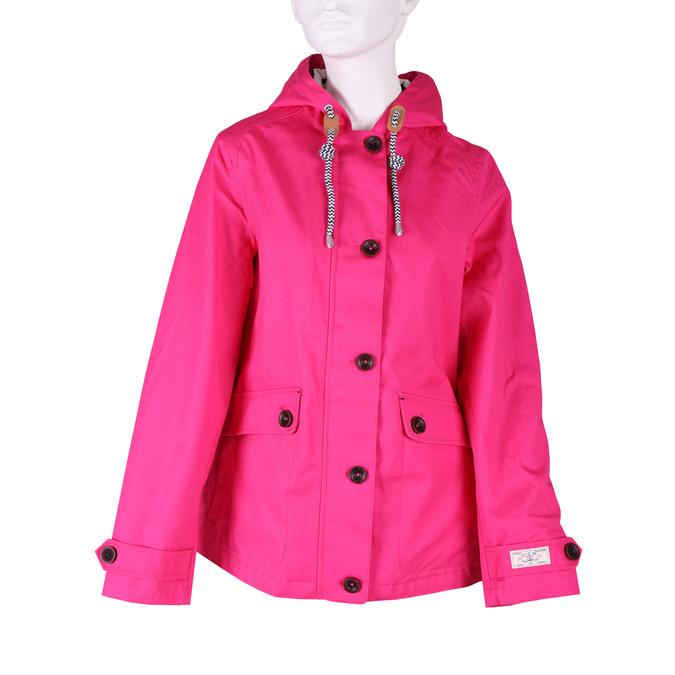 Ružová dámska bunda s kapucňou joules, ružová, 979-5010 - 13