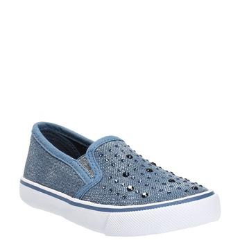 Detská obuv v štýle Slip-on north-star, modrá, 229-9193 - 13
