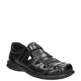 627bdbdfcb Pánske čierne kožené sandále bata