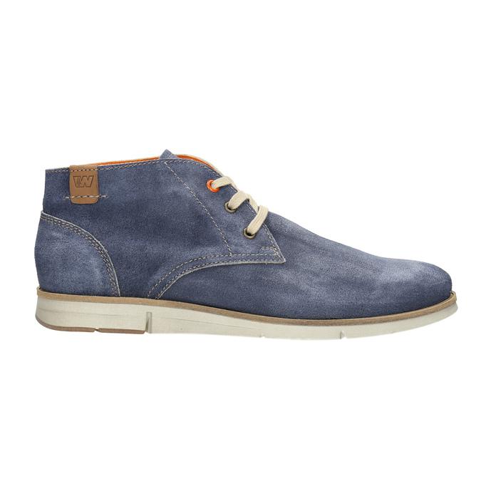 Členková obuv z brúsenej kože weinbrenner, modrá, 843-9625 - 15