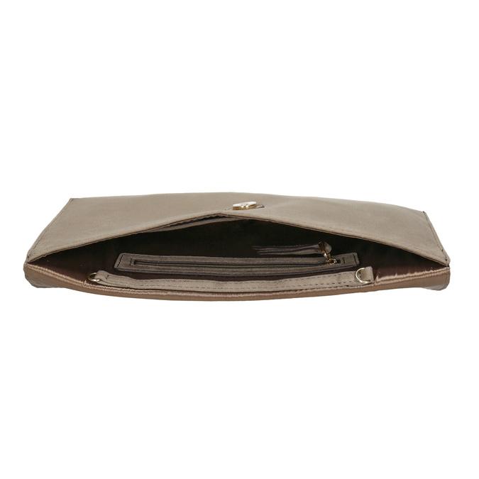 Listová kabelka s hadím vzorom bata, hnedá, 969-8643 - 15