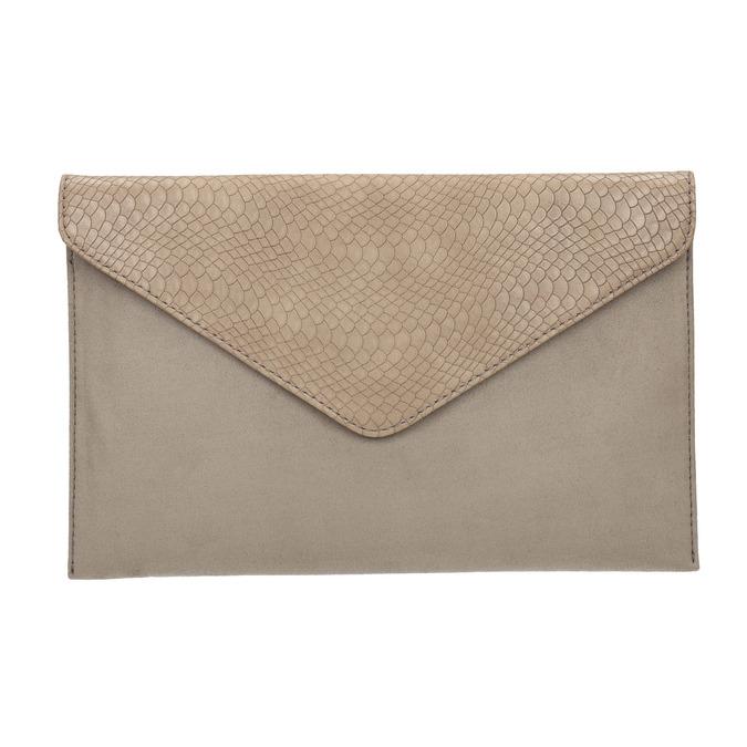Listová kabelka s hadím vzorom bata, hnedá, 969-8643 - 26