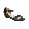 Sandále na klinovom podpätku bata, čierna, 661-6601 - 13