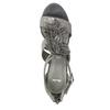 Sandále na ihličkovom  podpätku bata, šedá, 761-2602 - 19
