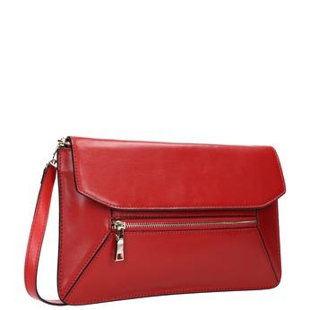 Červená kožená listová kabelka bata, červená, 964-5219 - 13