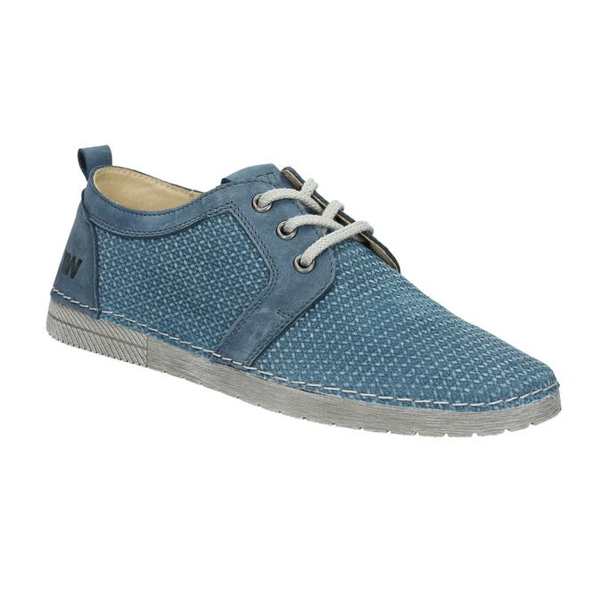 Ležérne kožené poltopánky weinbrenner, modrá, 523-9475 - 13