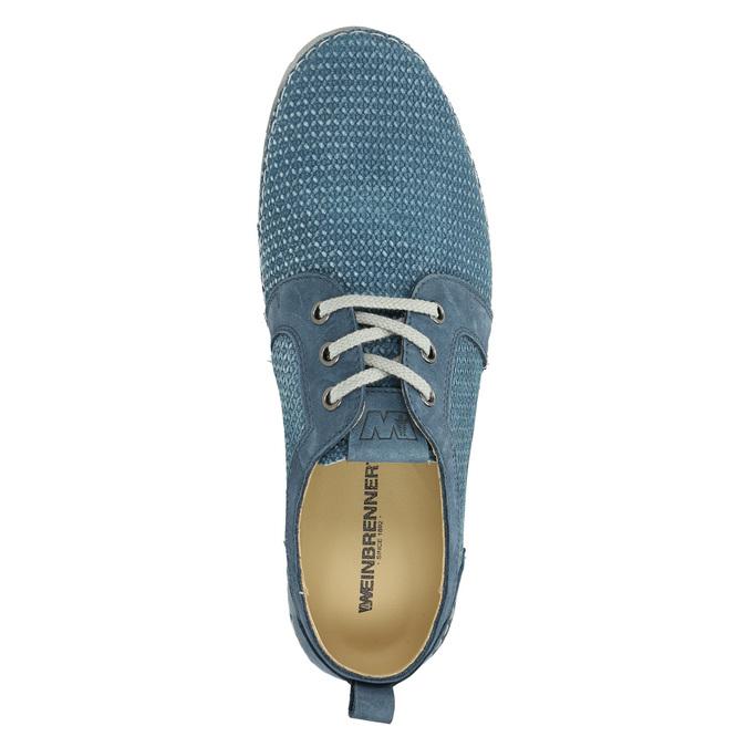 Ležérne kožené poltopánky weinbrenner, modrá, 523-9475 - 19