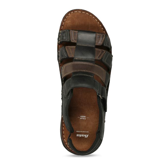 Pánske letné sandále z brúsenej kože bata, hnedá, 866-4610 - 17