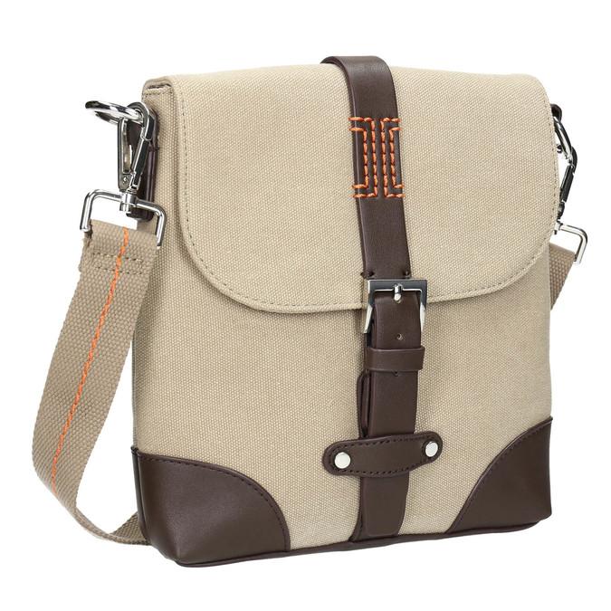 Pánska taška v štýle Crossbody bata, béžová, 969-8284 - 13