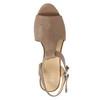 Kožené sandále na ihličkovom podpätku bata, hnedá, 766-4600 - 26