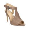 Kožené sandále na ihličkovom podpätku bata, hnedá, 766-4600 - 13