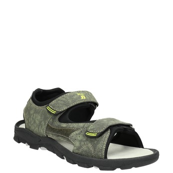 Detské sandále na suchý zips mini-b, zelená, 461-7605 - 13