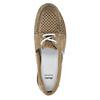 Kožené mokasíny s perforáciou bata, hnedá, 526-4631 - 19