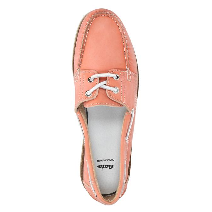 Dámske kožené mokasíny bata, ružová, 526-5632 - 19