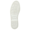 Kožené mokasíny s perforáciou bata, hnedá, 526-4631 - 26
