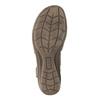Kožené sandále na klinovom podpätku bata, hnedá, 666-4609 - 26