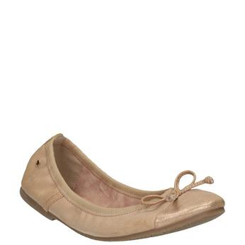 Dámske baleríny s pružným lemom bata, béžová, 521-5601 - 13