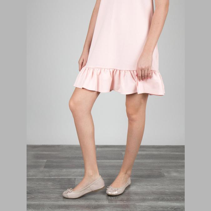 Dámske baleríny s pružným lemom bata, ružová, 521-8601 - 18