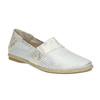 Kožená dámska Slip-on obuv bata, biela, 516-1604 - 13