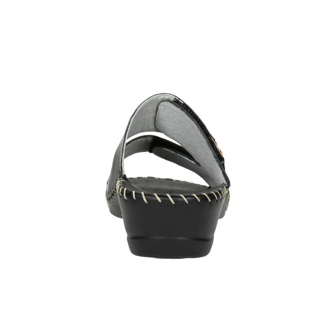 Kožená domáca obuv comfit, čierna, 674-6600 - 17