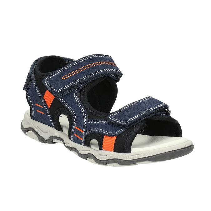 Detské sandále na suchý zips mini-b, modrá, 463-9602 - 13