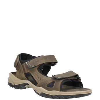 Pánske kožené sandále weinbrenner, hnedá, 866-3630 - 13