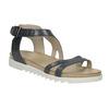 Kožené sandále na výraznej podrážke bata, modrá, 566-9606 - 13