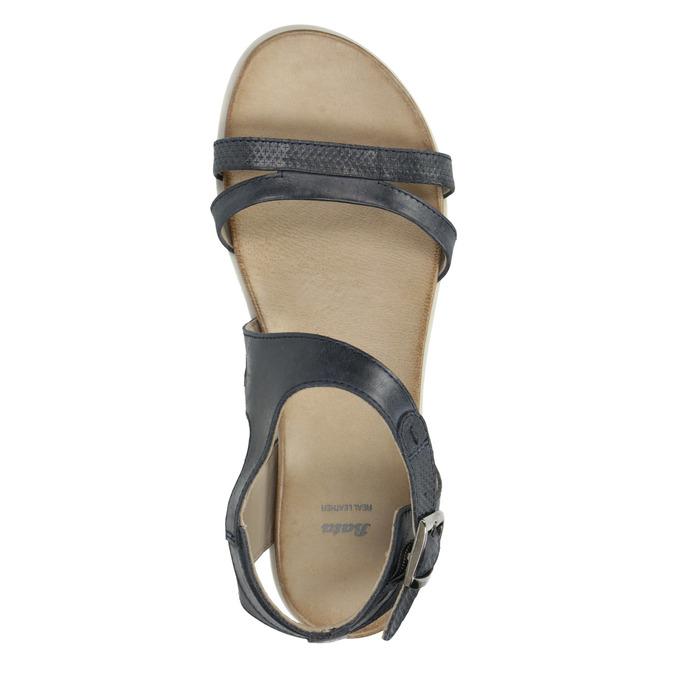 Kožené sandále na výraznej podrážke bata, modrá, 566-9606 - 19