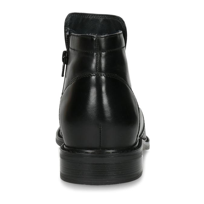 Kožená členková obuv so zateplením bata, čierna, 894-6641 - 15