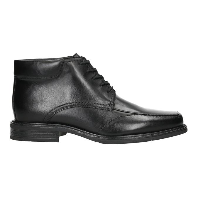 Kožená členková obuv so zateplením bata, čierna, 894-6640 - 15