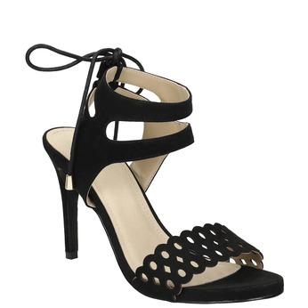 Čierne sandále na ihličkovom podpätku bata, čierna, 769-6603 - 13