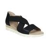 Sandále s pružnými remienkami bata, čierna, 661-6607 - 13