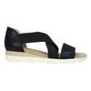 Sandále s pružnými remienkami bata, čierna, 661-6607 - 15