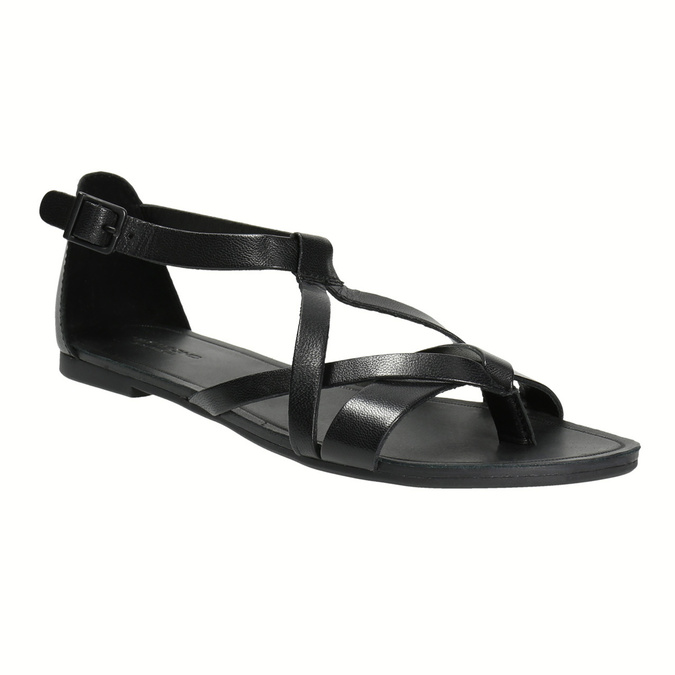 Čierne dámske sandále vagabond, čierna, 564-6017 - 13