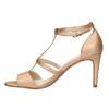 Dámske sandále na podpätku insolia, ružová, 761-5609 - 26