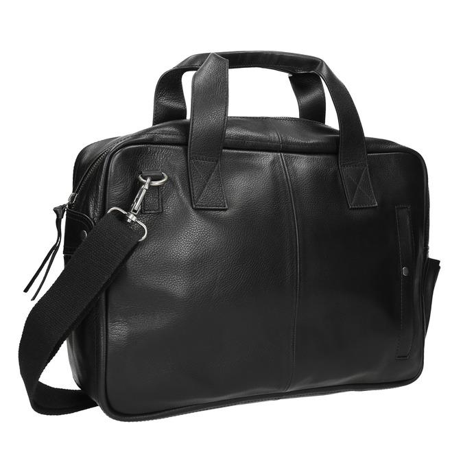 Čierna kožená taška bata, čierna, 964-6228 - 13
